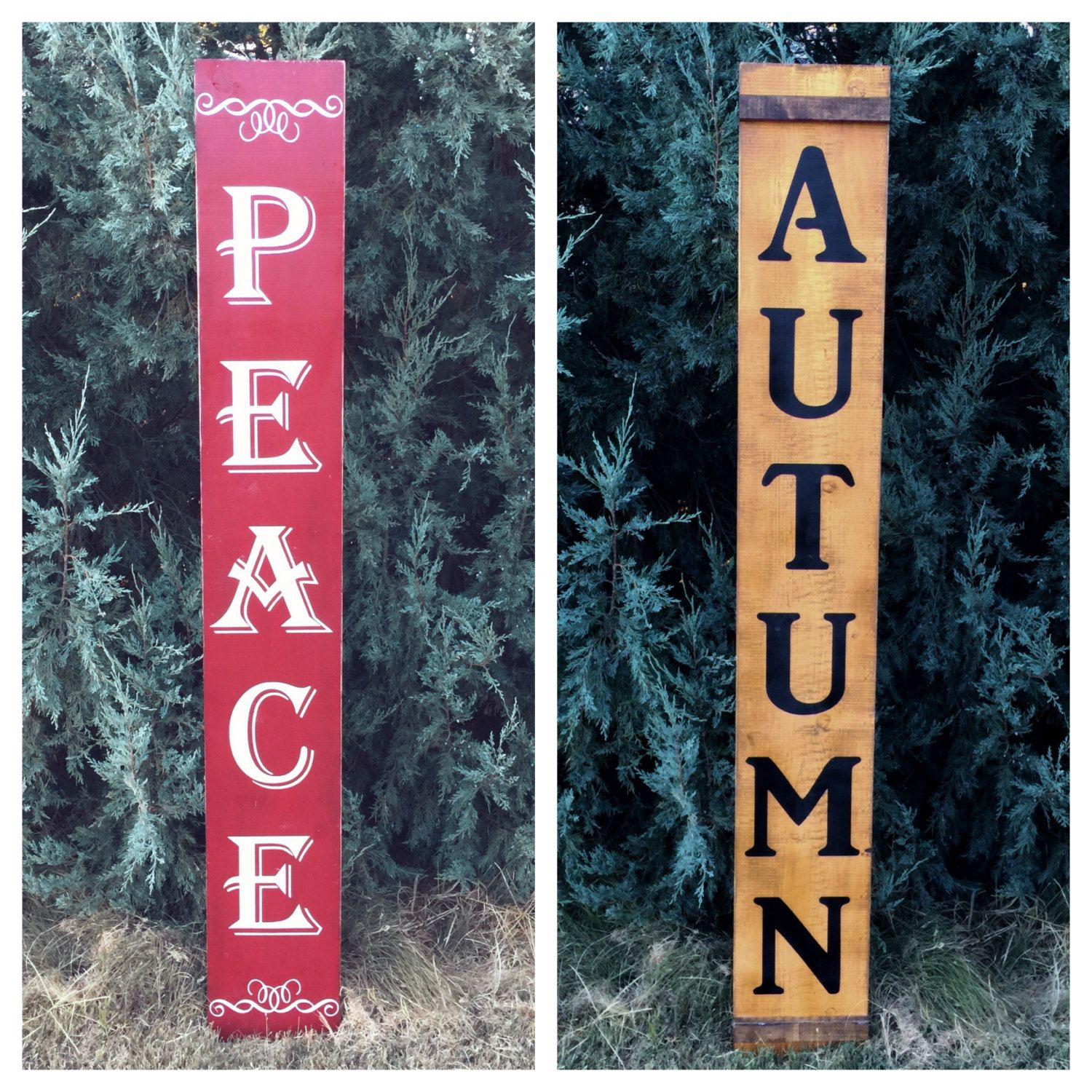 Reversible Porch Sign Autumn Porch Sign Fall Decor Large Wood Sign Entry Sign 5 5 Holiday Porch Decor Christma Porch Signs Wood Signs Entry Signs