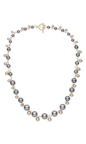 Single-Strand Necklace with Glass Pearls - Fire Mountain Gems and Beads