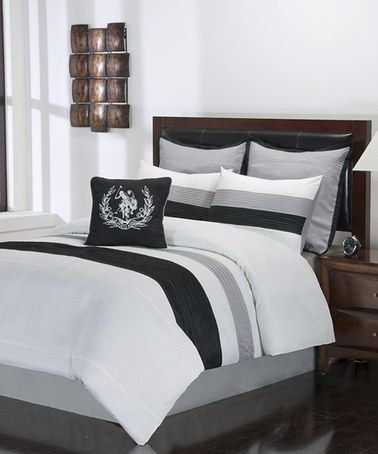 Take A Look At This White Amp Black Resort Storm Comforter