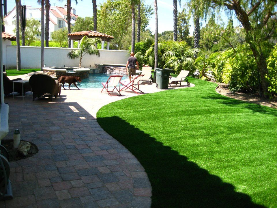 Garden Ideas To Replace Grass artificial grass cost: fake turf installation prices guide {pro