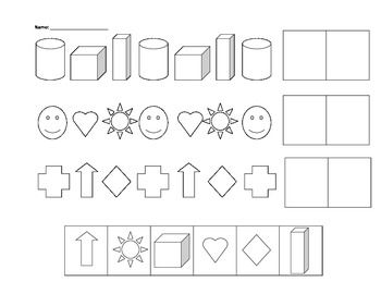 Pattern Worksheets » Kindergarten Pattern Worksheets Cut And Paste ...
