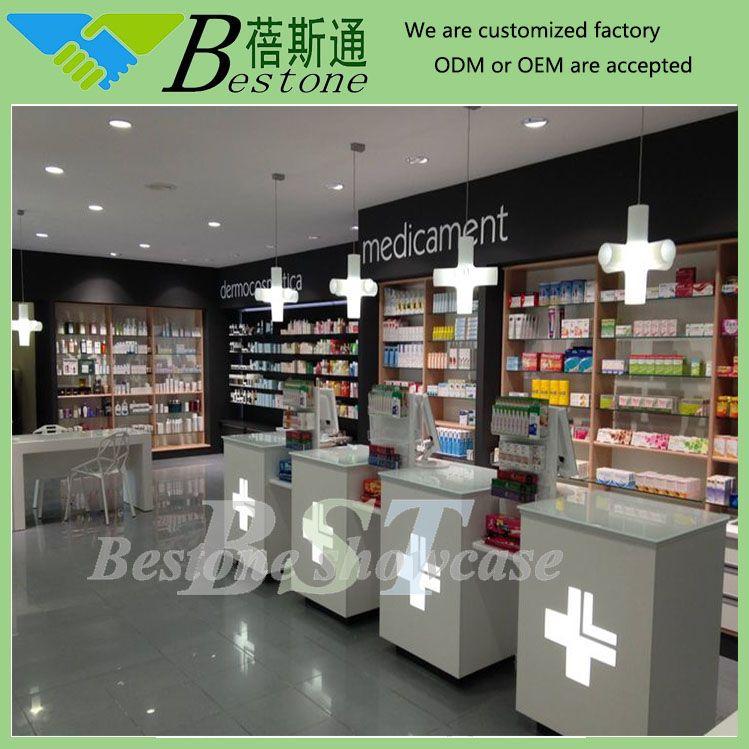 Retail Pharmacy Store Interior Design Gondola Unit With Led. Retail Pharmacy Store Interior Design Gondola Unit With Led