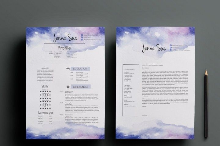 this beautiful and professional resume package will help you get