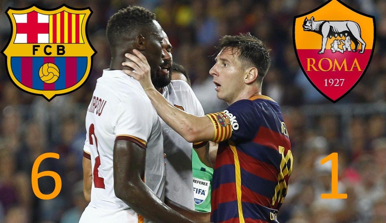 Barcelona Vs Roma 6 1 All Goals 2015 2016 Champions League 25 11 2015 Champions League Fifa 1 League