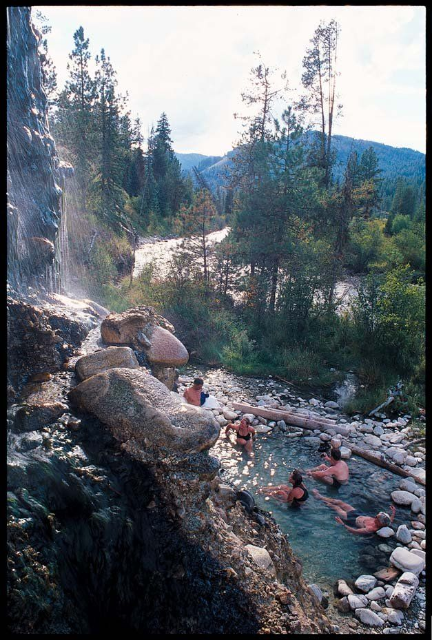 Hot Spring Near Ketchum, Idaho.
