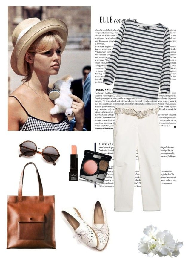 """""""54#"""" by sarah0-0 ❤ liked on Polyvore featuring MANGO, A.P.C., Retrò, FM Shoes and Chanel"""