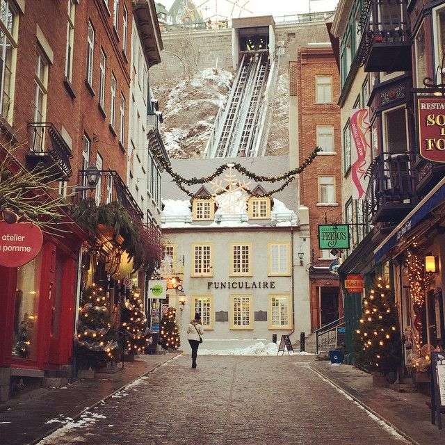 Old Town Quebec is all ready for the holidays