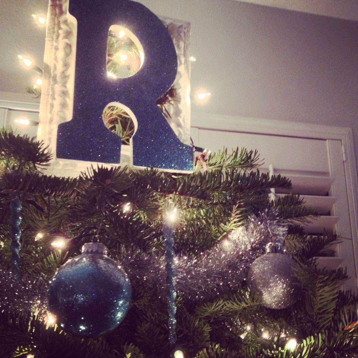 Letter Christmas Tree Topper: DIY Tree Topper! Buy Letter From Michaels.... Add Mod