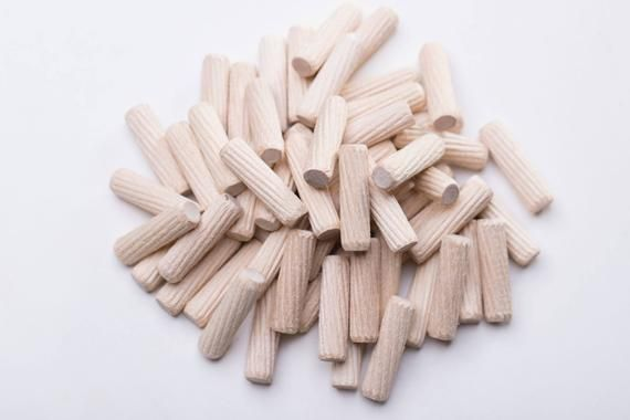 50 Pcs Wooden Dowels Rods M8 Furniture Hardware Inclined