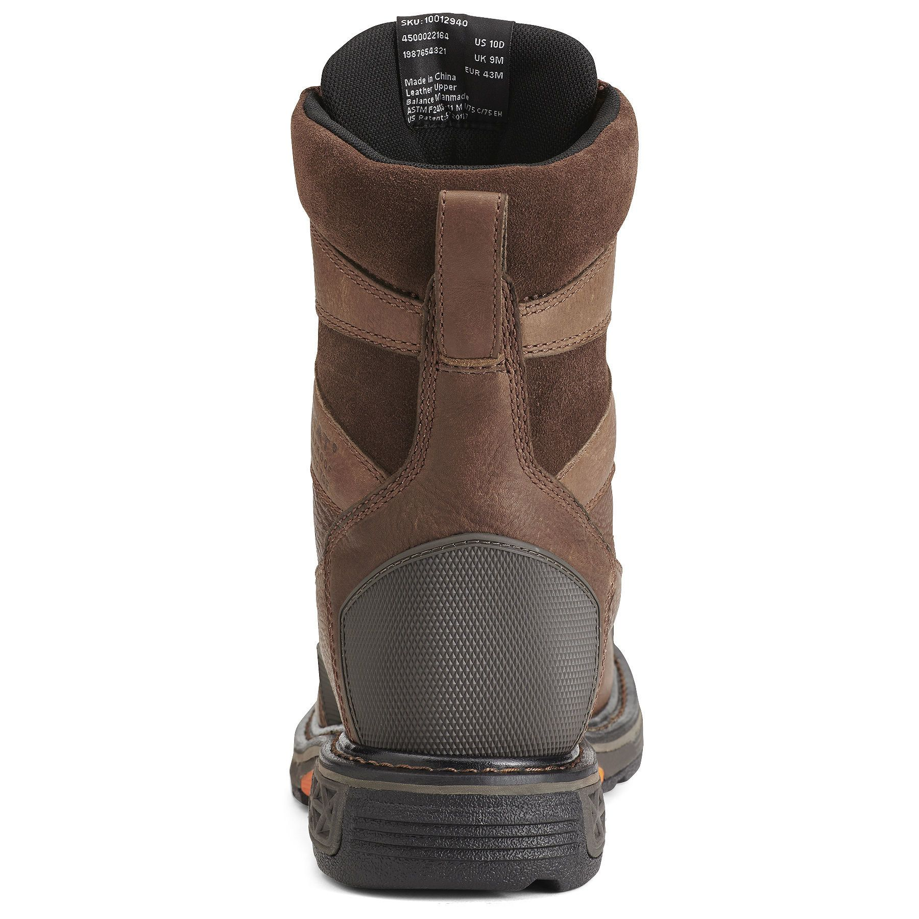 Overdrive 8 Wide Square Toe Waterproof Composite Toe Work Boot Composite Toe Work Boots Boots Brown Leather