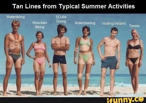 Image Result For Squidward Tanning Funny Sunburn Tan Lines I Laughed