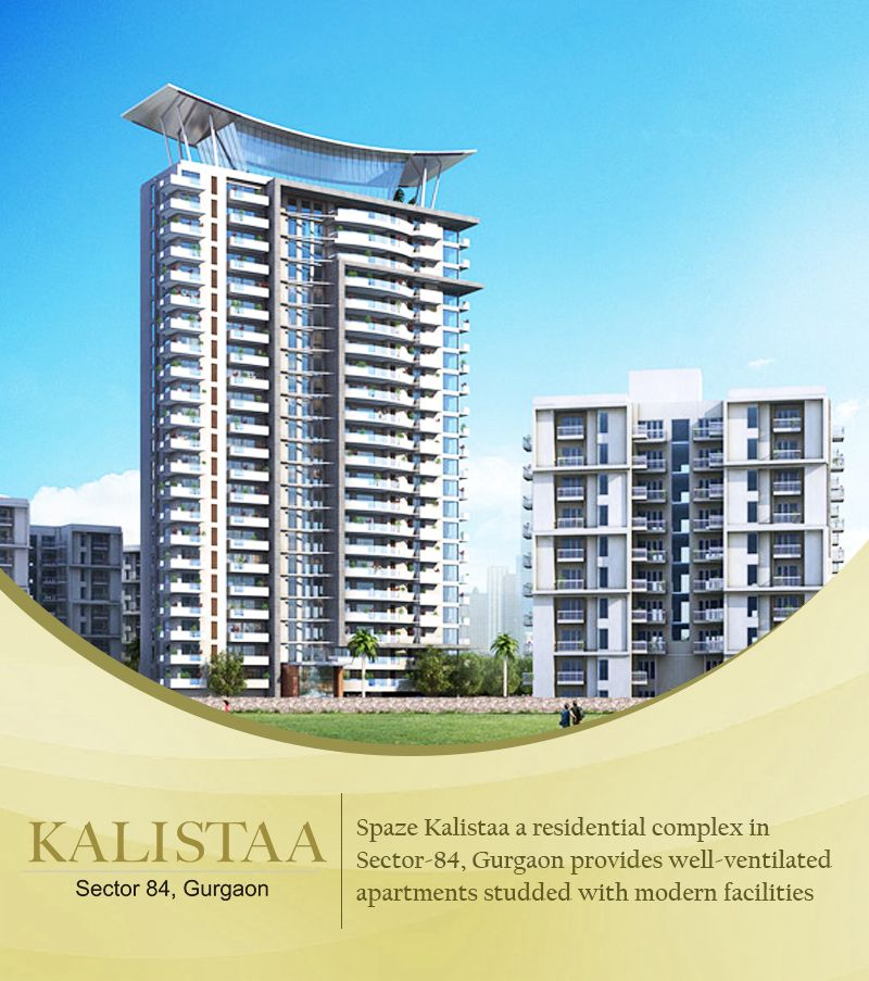 Spaze Kalistaa Is A Synonym For Finest Living. The Luxury Living Gets  Better With Brilliant Exterior Architecture U0026 Interior Layout With World  Class ...