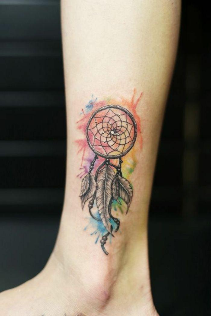Bien connu ▷ 1001 + idées de tatouage attrape-rêve symbolique   Tatouages  SD57