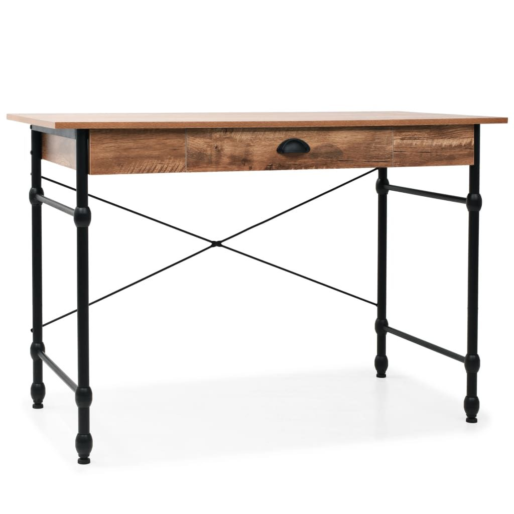 ZNTS Writing Desk with Drawer 110x55x75 cm Oak Colour 246047