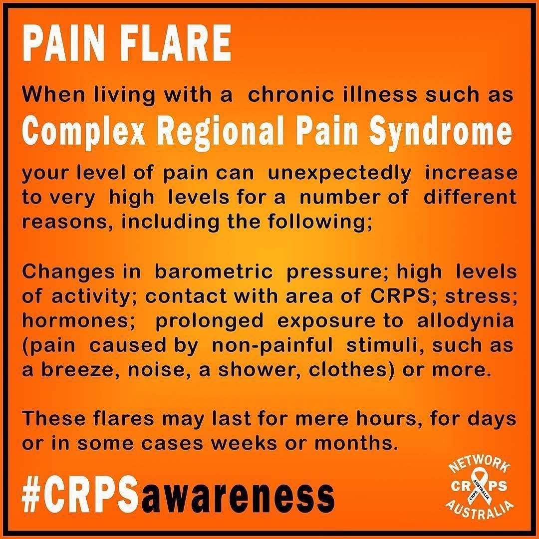 What To Expect On Your Visit Day: #Repost @crps_network_australia PAIN FLARES! They Can Come