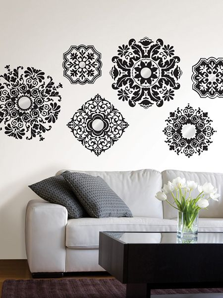 Baroque Wall Decals By Wallpops With Shimmery Mirror Accents