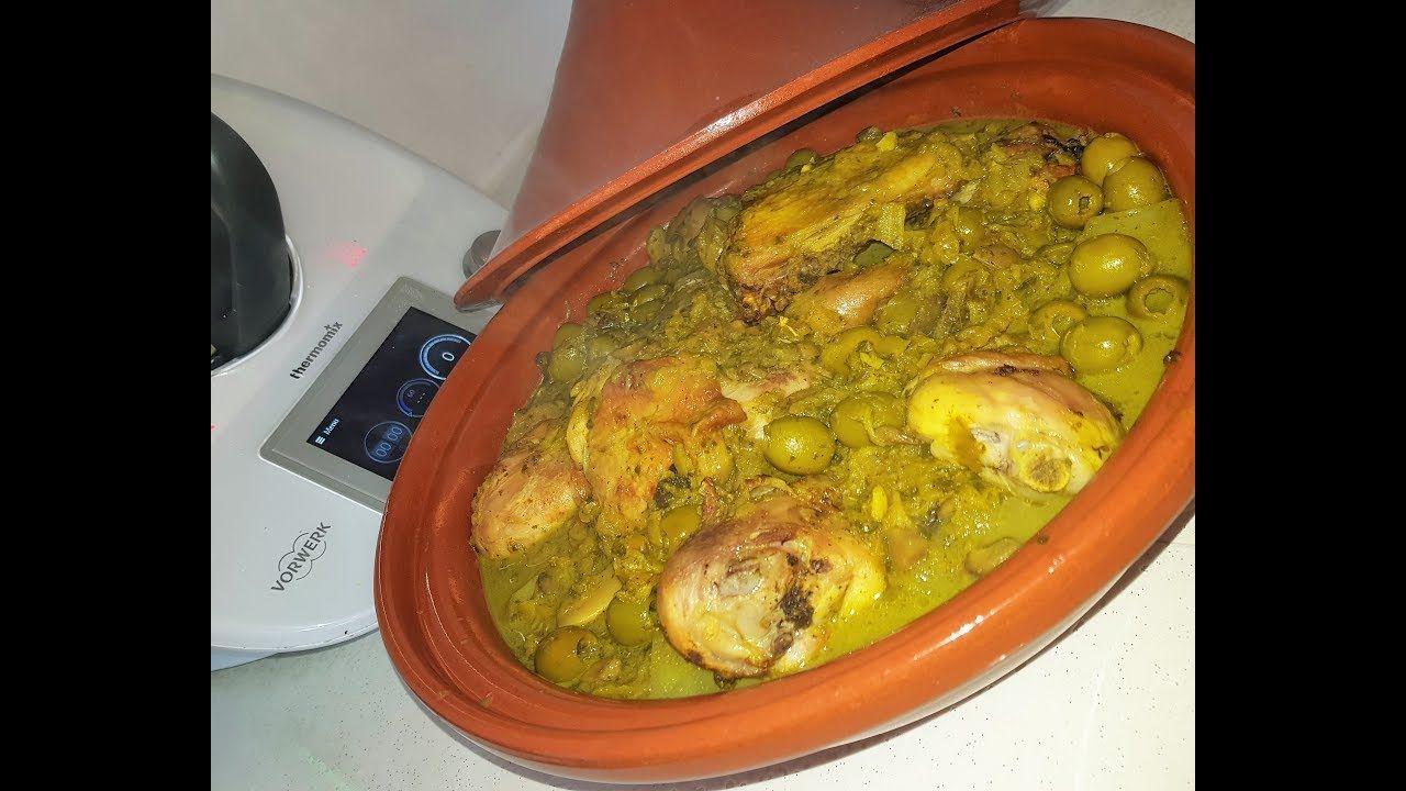 tajine de poulet aux olives au