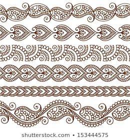 Henna Border: Bilder, Stockfotos und Vektorgrafiken