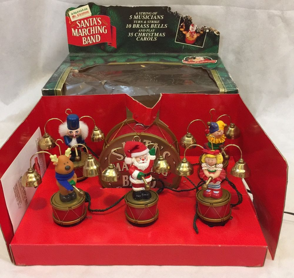 vintage mr christmas santas marching band original box collectibles holiday seasonal christmas current 1991 now ebay