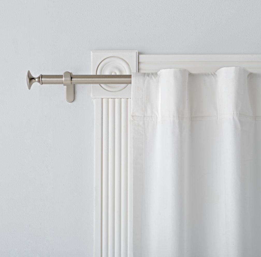Shop Single Silver Curtain Rod Sturdy Sleek And Versatile Our