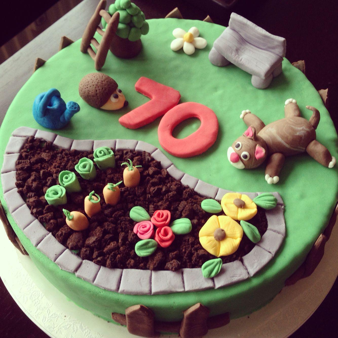 Garten Torte Cake Fondant Sweet Dreams Kuchen Gartenmotiv Tortenverzierungstipps Motivtorten