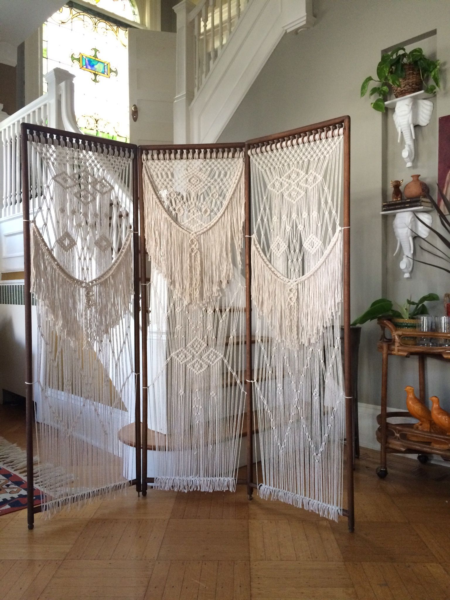 Modern bohemian home decor  FURNITURE u Niroma Studio  Fiber Creations  Pinterest  Macrame