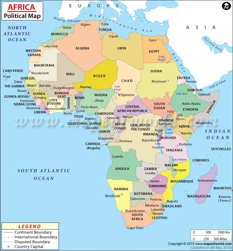 Political Map of Africa Lugares para visitar Pinterest Geography