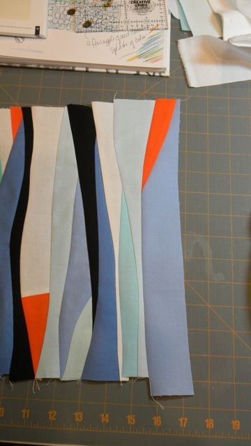 free form quilt piecing  Tips on Curve Piecing, Reverse Appliqué, Pebbling, and ...