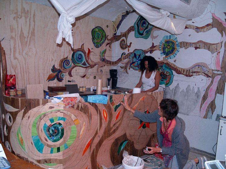 Abraxas Mosaic Mural Mosaic Art Mosaic Murals Mural