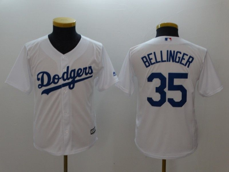 Youth Dodgers 35 Cody Bellinger Gray White Youth Cool Base Jersey ... f164999c79a