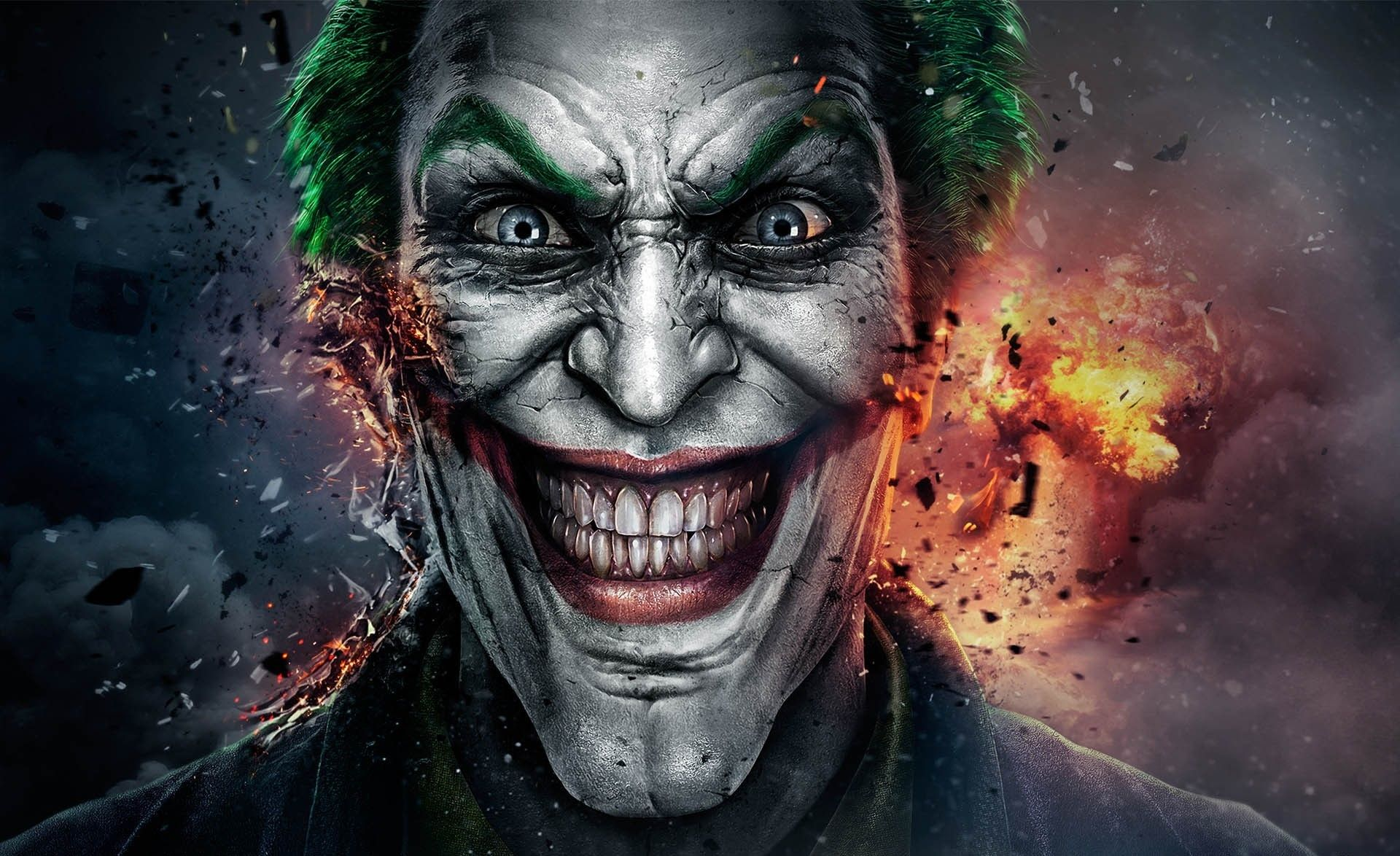 download wallpaper x joker art face full hd p hd