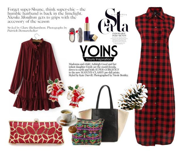 """""""YOINS II/19"""" by selmica11 ❤ liked on Polyvore featuring Estée Lauder, Capelli New York, yoins, yoinscollection and loveyoins"""
