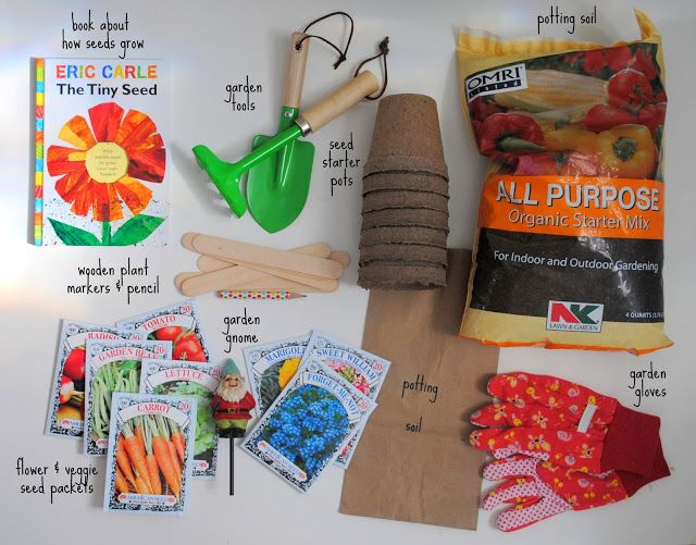 Nice A Pretty Cool Life.: Gifting: A DIY Gardening Kit For Kids