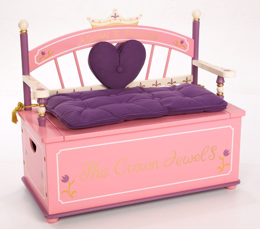 Princess Toys Box Storage Kids Girls Chest Bedroom Clothes: Little Pink Princess Toy Box
