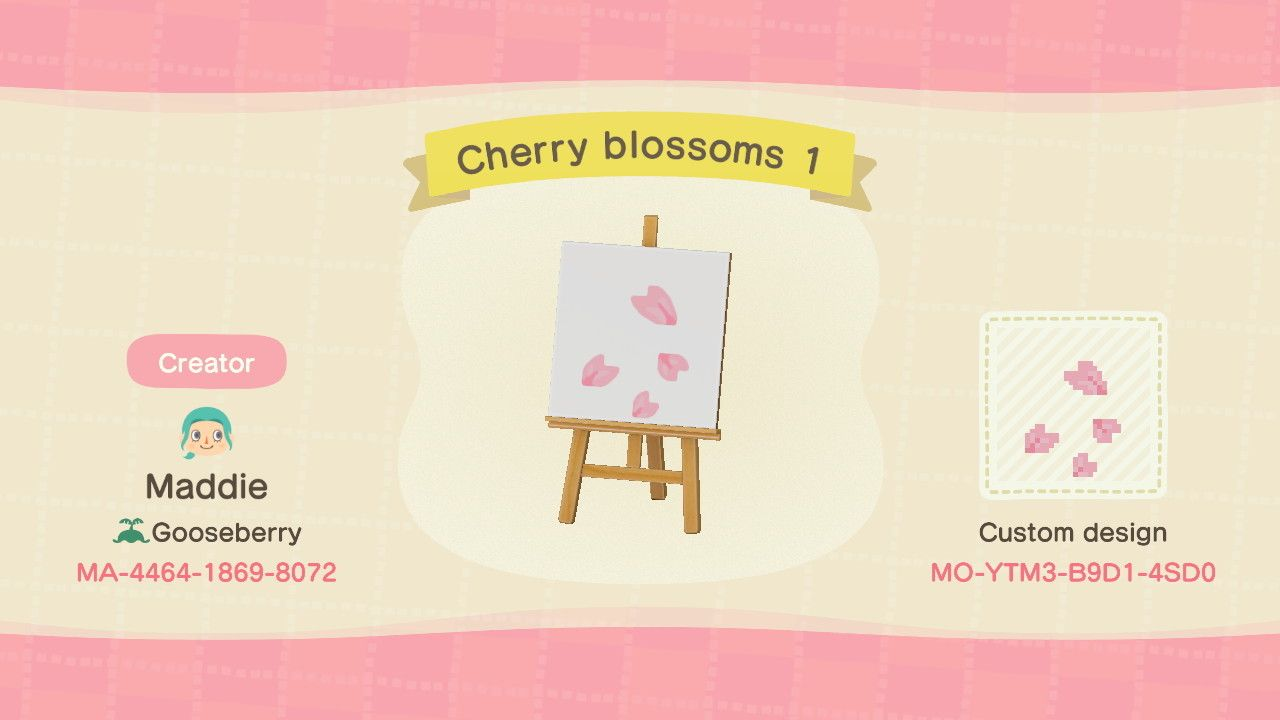 Cherry Blossoms Path Designed By Maddie Of Acnh Custom Designs New Animal Crossing Animal Crossing Animal Crossing Game
