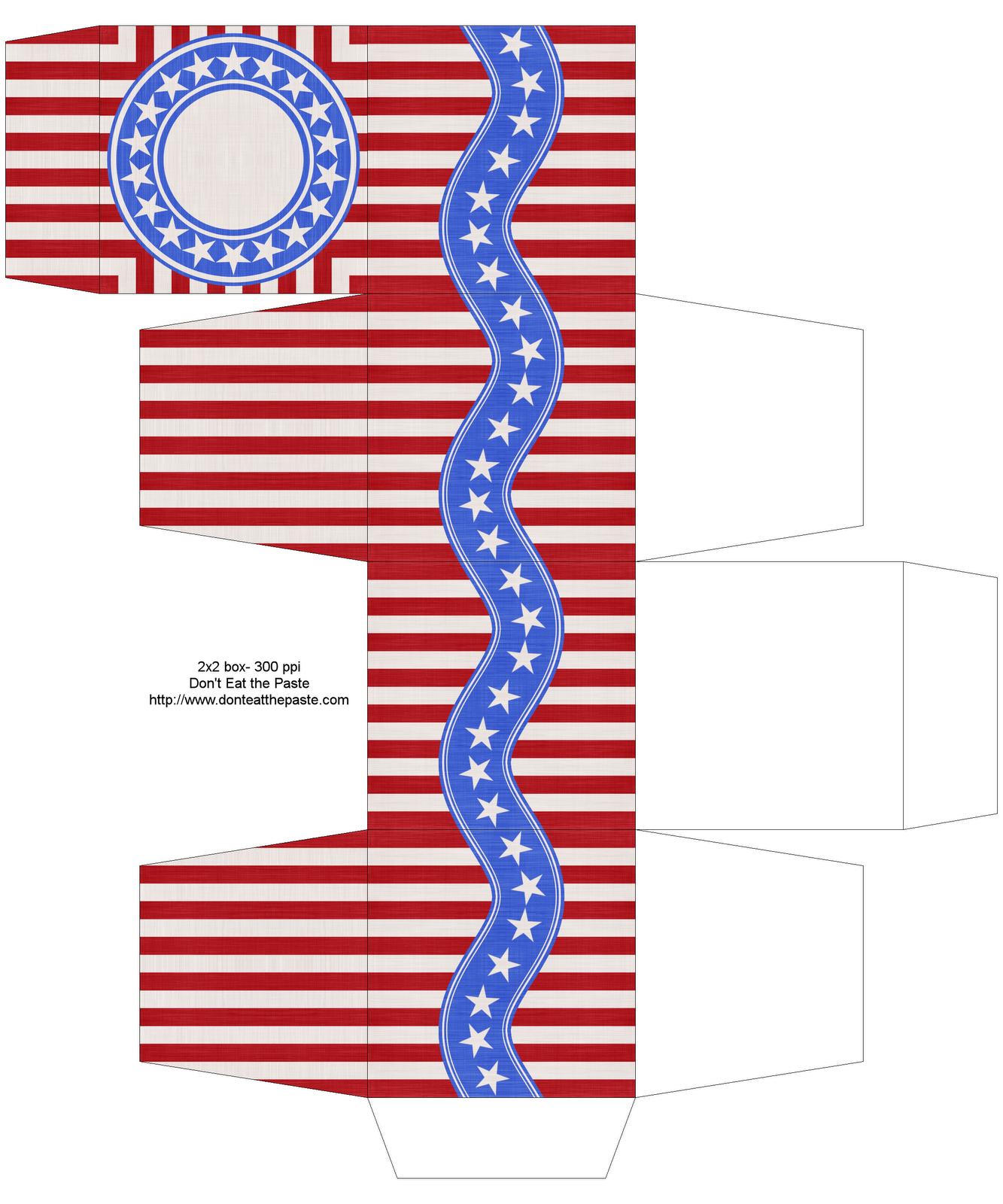 Happy 4th Of July Printable Box