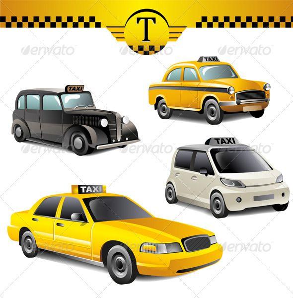 Taxi Cars Taxi Ai Illustrator And Cars