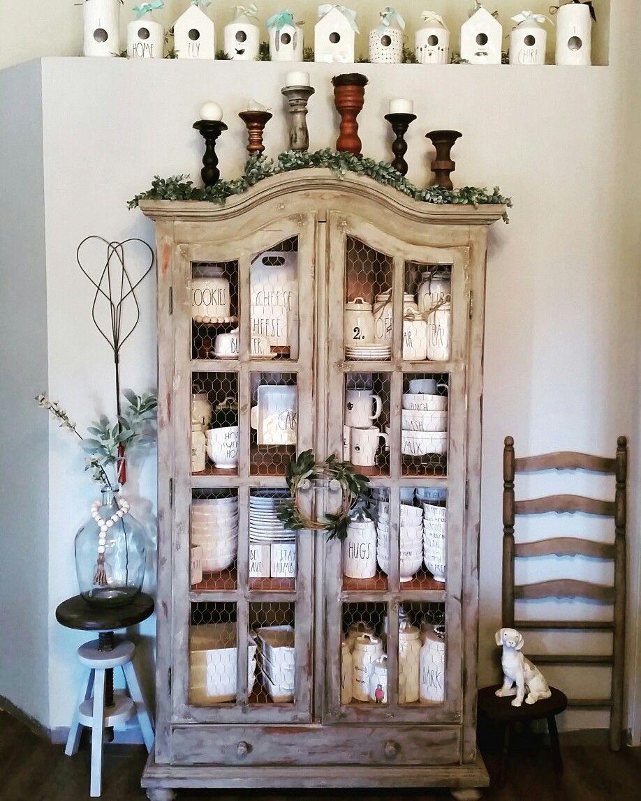 Rae Dunn Display Cabinet Chic Home Decor
