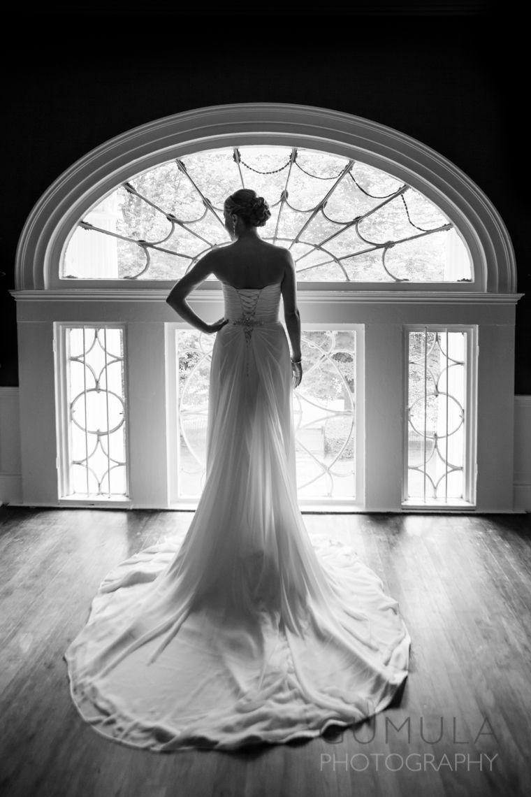 Linden Place Wedding Window Shot  @Linden Place  www.gumulaphotography.com