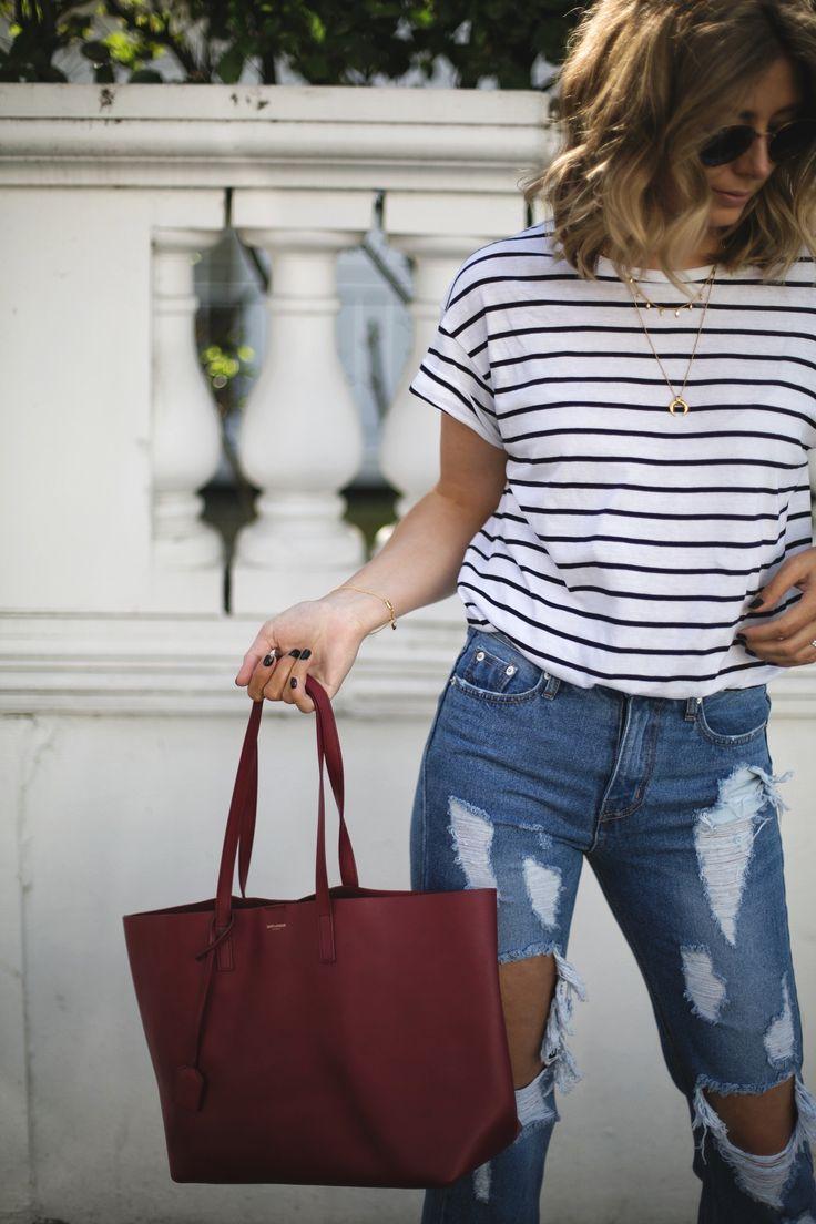 Resultado de imagem para shopper bag street style