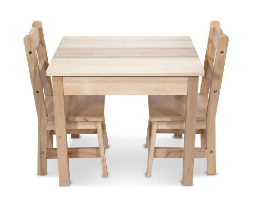 Melissa Doug Wooden Table And 2 Chairs Set Kids Table Chairs