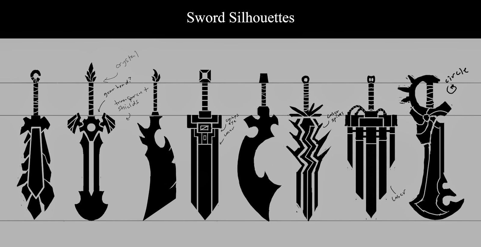 The Sound of Silence: Wildstar Sword Concepts (Exile and Eldan)