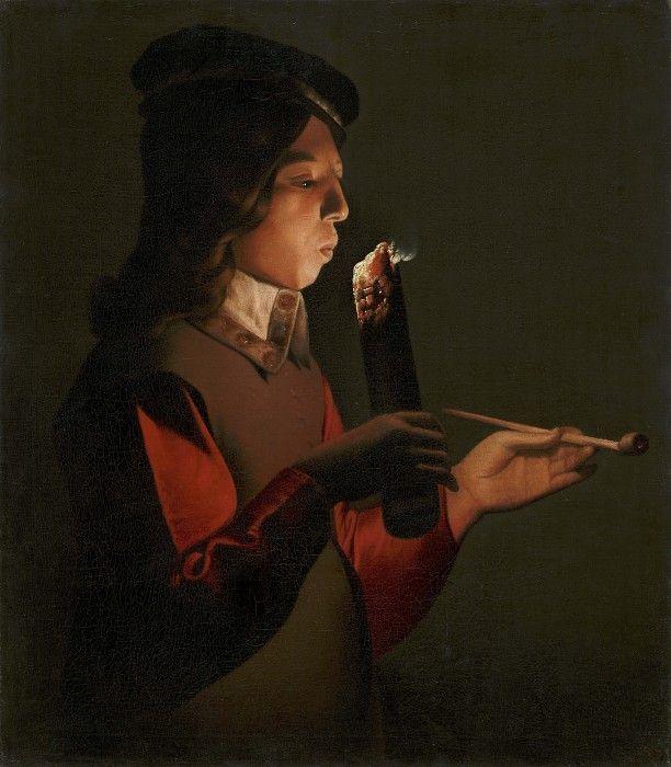 Картинки по запросу smoker by georges de la tour