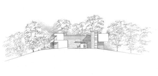 Casa no Vinhedo Retrospect,Elevação