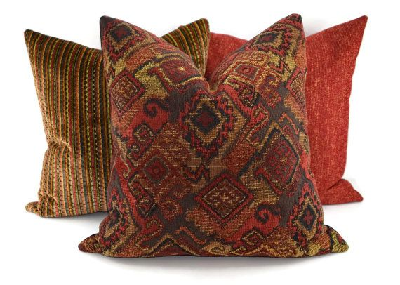 Red Black Gold Brown Moroccan Throw Pillow Cover Etsy Throw Pillows Moroccan Throw Pillow Etsy Pillow Covers