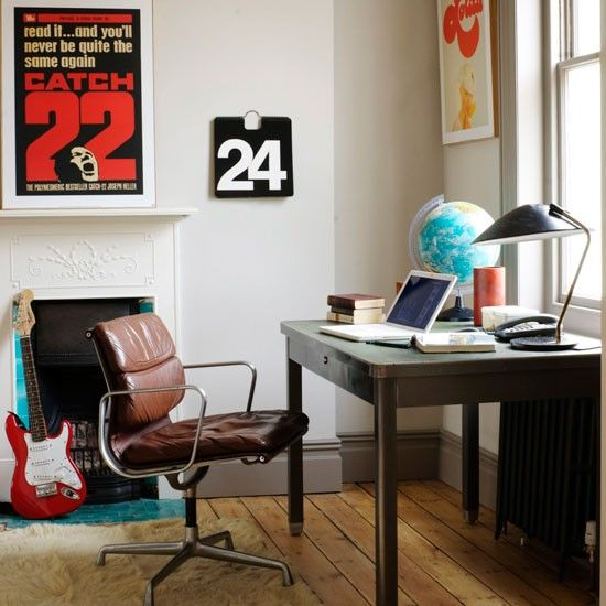 Retro home office Bohemian Retro Home Office Retro Posters Are Simple Way To Inject Character Into Home Office Mix Retro Furniture With Modern Pieces For An Uptodate Look Pinterest Retro Home Office Retro Posters Are Simple Way To Inject Character