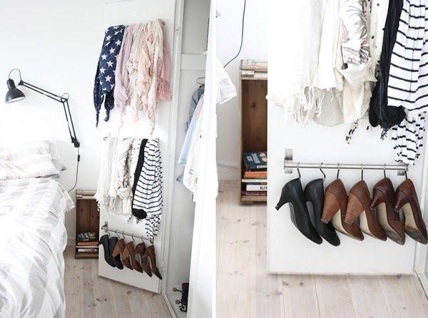 cipo tarolas kis helyen DIY Pinterest Shoes organizer and