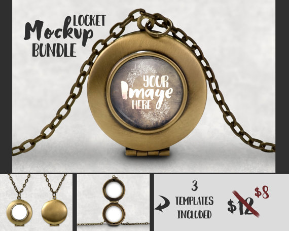 Round Locket Pendant Mockup Template | Jewelry Photography