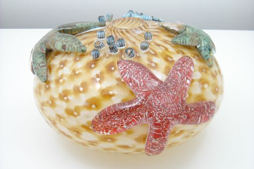 Amber Orb Starfish By Gibbons Glass Designed By John Gibbons Glass Art Starfish Art Glass Starfish