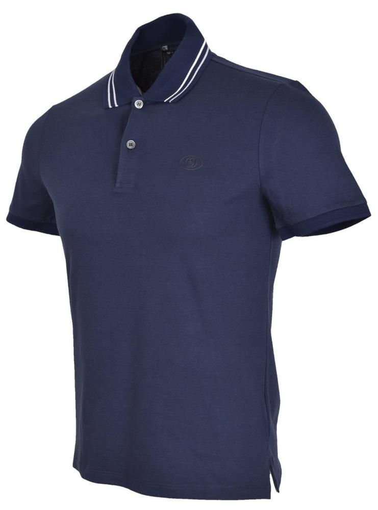 bf20ef9206b7 New Gucci Men's 353900 Blue Web Stripe Interlocking GG SLIM Polo Shirt S # Gucci #PoloRugby